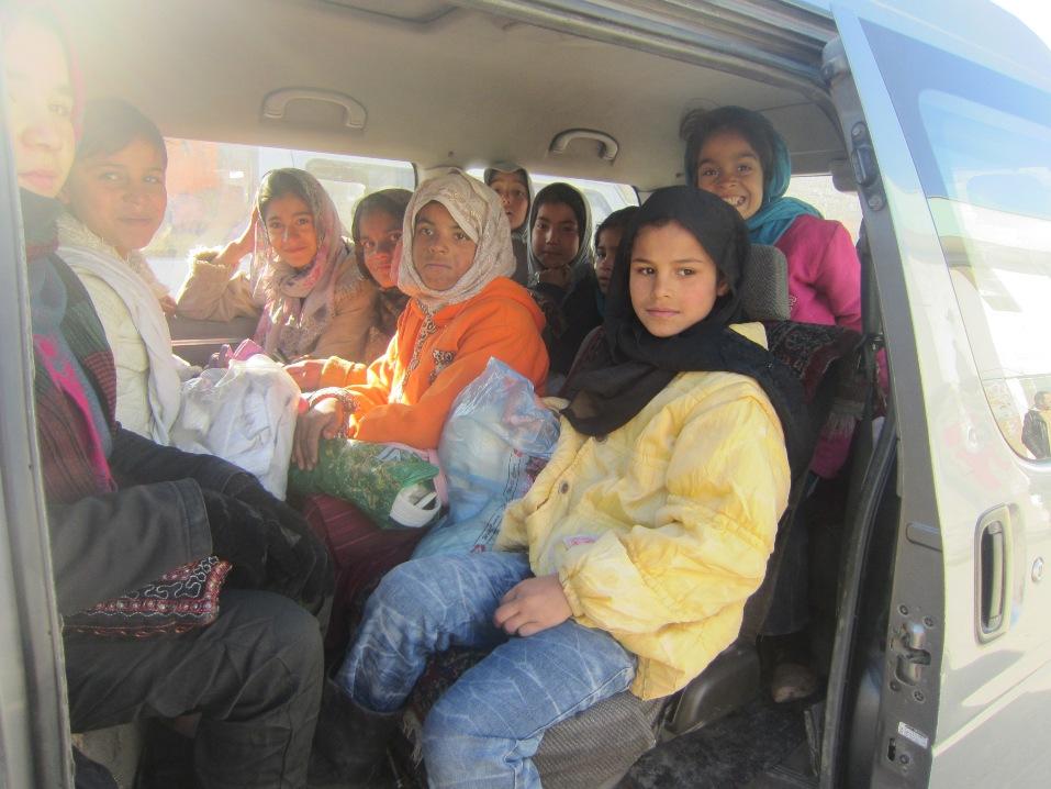 Jentejudo i Afghanistan - transport