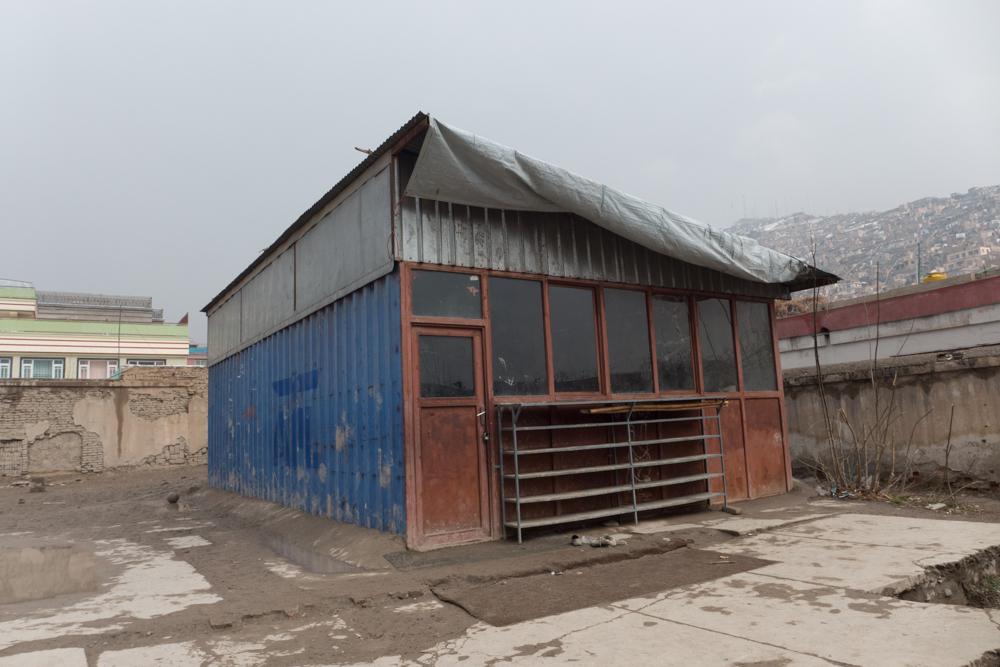 En av de mobile dojoene opprinnelig bygget for Aschiana, nå i bruk hos SCAWNO. På grunn av stor pågang fra barn som ønsker å trene judo, ønsker SCAWNO å utvide dojoen.